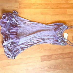 Forla Paris purple mini dress. Size S. Tags on.